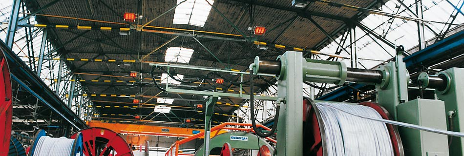 Kablo KladnoPrvní světlé infrazářiče 1. generace byly instalovány již vr.2004 v hlavní výrobní hale navijárny nejsilnějších kabelů. Zde měl investor požadavek na celoplošné vytápění haly na 22°C, nutných pro zachování plasticity jednotlivých složek kabelu...Více informací zde