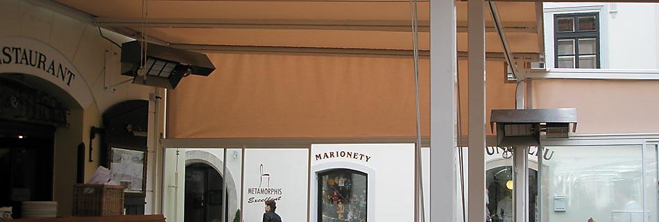 Zahrádky u restauracíPoužití světlých infrazářičů KASPO v polootevřených prostorách, jako jsou např. předzahrádky u restauracích v jarních a podzimních měsících se ukázalo jako velice vhodné a příjemné. Doposud totiž byly instalovány vtěchto prostorách...Více informací zde